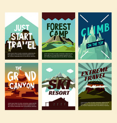 travel mountain landscape posters vector image