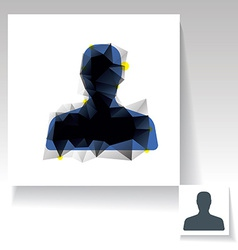 Triangulated avatar symbol vector