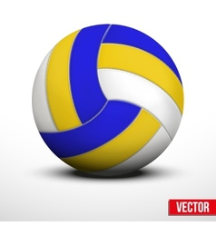 Volleyball in traditional tricolor colors on white vector image