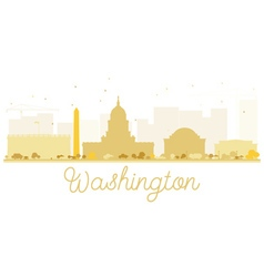 Washington dc city skyline golden silhouette vector