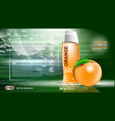 Digital orange and green shower gel vector