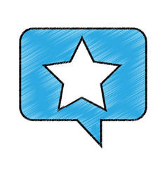 speech bubble with star icon vector image