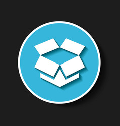 dropbox classic emblem icon vector image