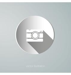 Paper camera icon vector