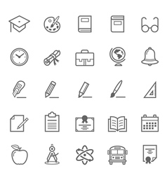 Set of outline stroke education icon vector