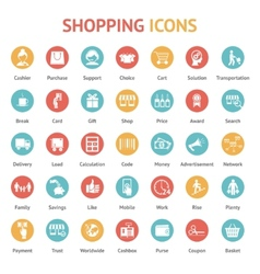 Purchase payment and delivery icons vector