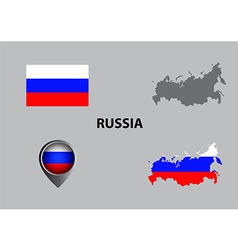 Map of russia and symbol vector