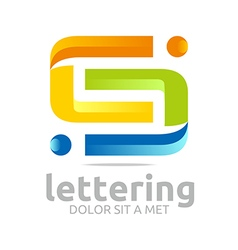 Logo alphabet abstract letter combination shape vector
