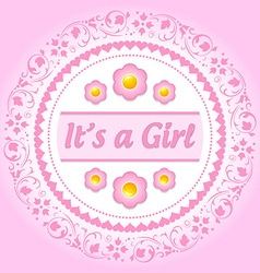 Its a girl ornament vector