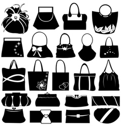 purse collage vector image