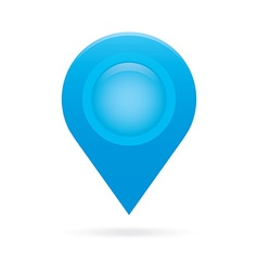Sky light blue map pointer icon marker gps vector
