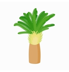 Date palm icon cartoon style vector