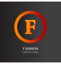 F letter logo abstract design vector