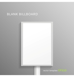 Blank roll-up banner vector image vector image