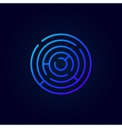 Blue abstract labyrinth icon vector