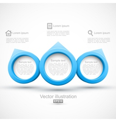 Blue circle banners 3d vector