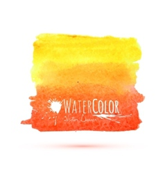 Bright orange banner isolated on white background vector