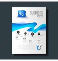 Business design background cover magazine vector