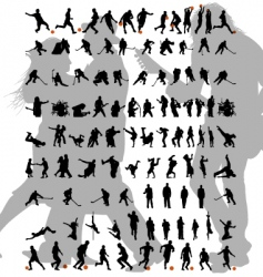 dance and sport silhouettes set vector image vector image