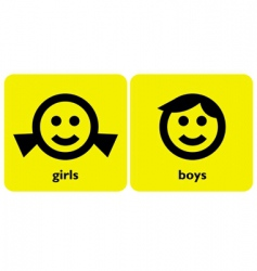 gender signs vector image vector image