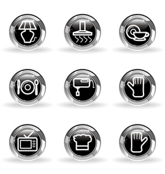 Glossy icon set 33 vector image