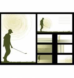 golf designs vector image