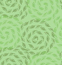 Green leves seamless pattern vector