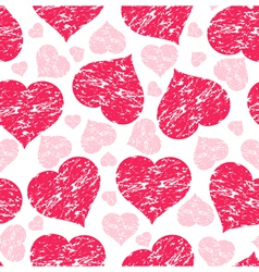 grunge hearts vector image vector image
