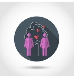 Lesbians iconBe free vector image vector image