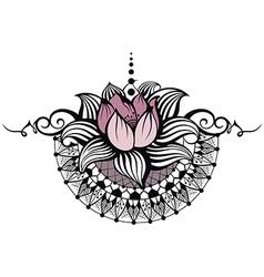 Lotus design vector image vector image