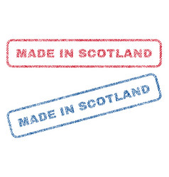 Made in scotland textile stamps vector