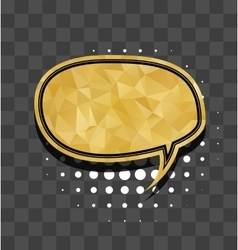 Oval gold sparkle comic text bubble vector
