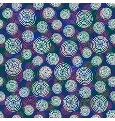 Pattern White Pink Circle vector image