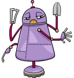 Robot character cartoon vector