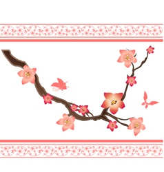 sakura elements vector image