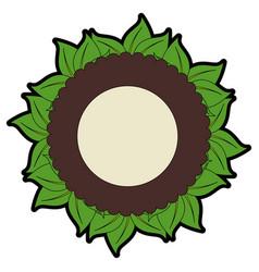 sheet tree round icon vector image