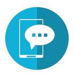 Smartphone bubble speech conversation shadow vector