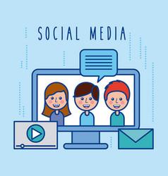 social media community group dialog chat vector image