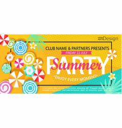Summer party banner vector
