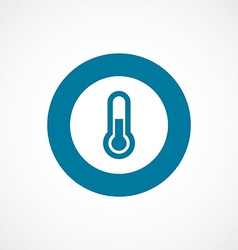 Thermometer bold blue border circle icon vector