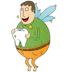 Tooth fairy man vector