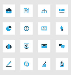 Trade colorful icons set collection of contract vector