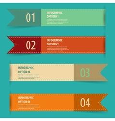 Vintage retro infographics options banner set vector image