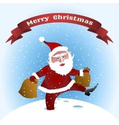 walking Santa vector image