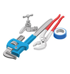 Wrench tap and adhesive tape vector