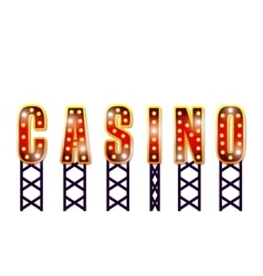 Notice spectacular casino icon vector