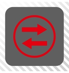 Horizontal flip arrows rounded square button vector