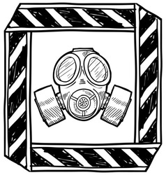 Doodle gas mask vector