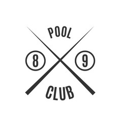 Emblem billiard club vector