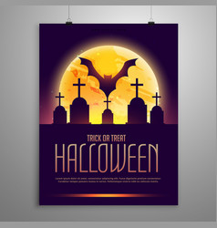 Halloween flyer invitation template vector